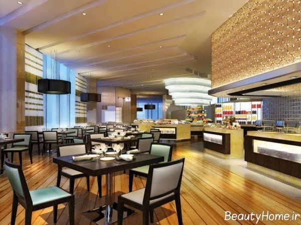 طراحی داخلی باشکوه رستوران