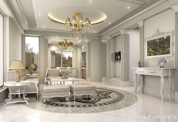 دکوراسیون داخلی زیبا و شیک سالن پذیرایی