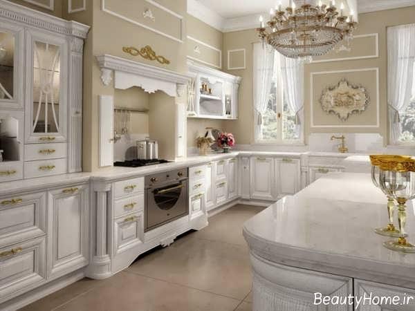 طراحی داخلی زیبا و شیک آشپزخانه