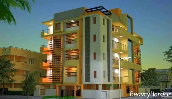 طراحی نورپردازی نما ساختمان