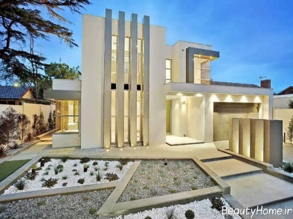 طراحی شیک و زیبا نورپردازی ساختمان