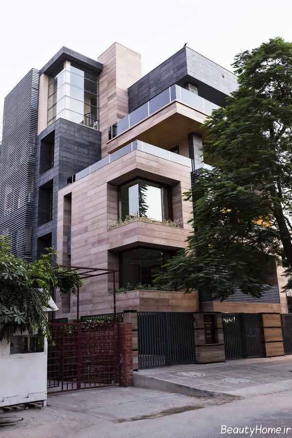 طراحی زیبا و شیک نمای ساختمان