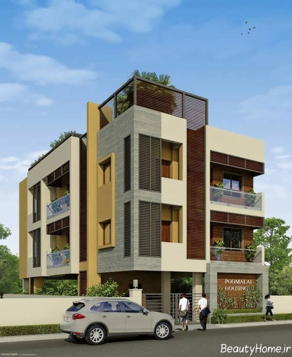 طراحی زیبا و شیک نما ساختمان