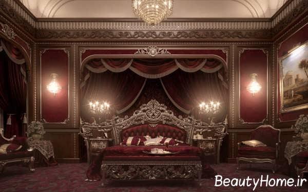 سرویس خواب زرشکی سلطنتی