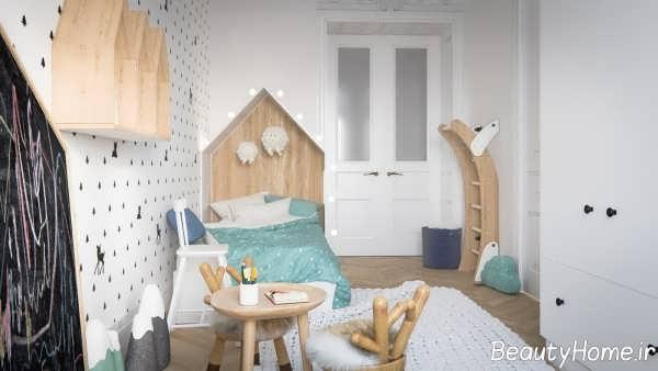 طراحی اتاق کودک خانه اروپایی ساده