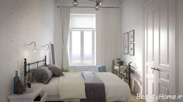 دکوراسیون اتاق خواب خانه اروپایی ساده