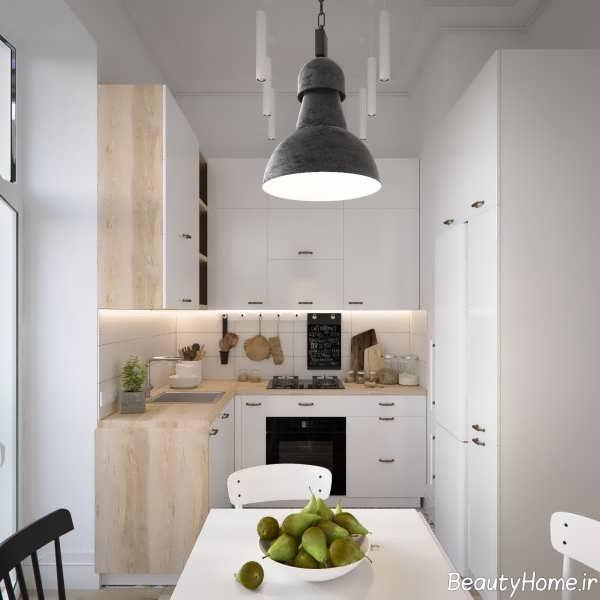 طراحی آشپزخانه اروپایی ساده
