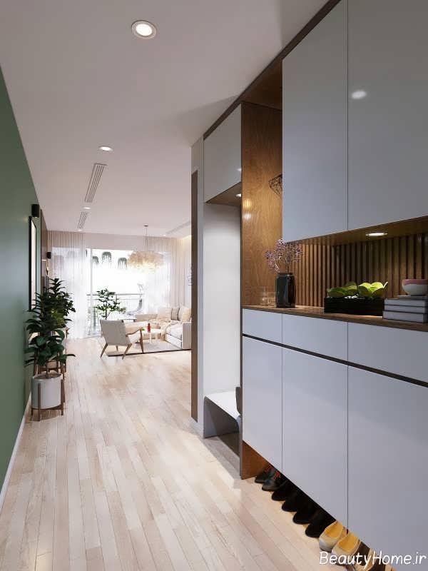 طراحی ورودی خانه اروپایی ساده