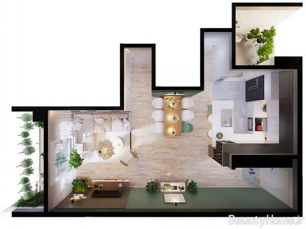 دکوراسیون داخلی جذاب خانه اروپایی ساده