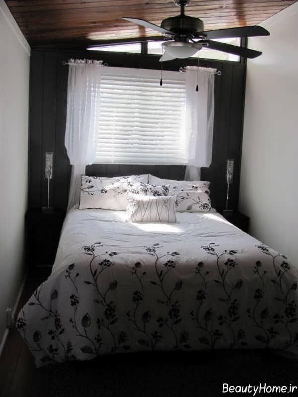 تصاویر دکوراسیون پرده در اتاق خواب کوچک