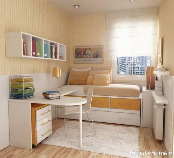 دکوراسیون داخلی اتاق خواب کوچک پسرانه
