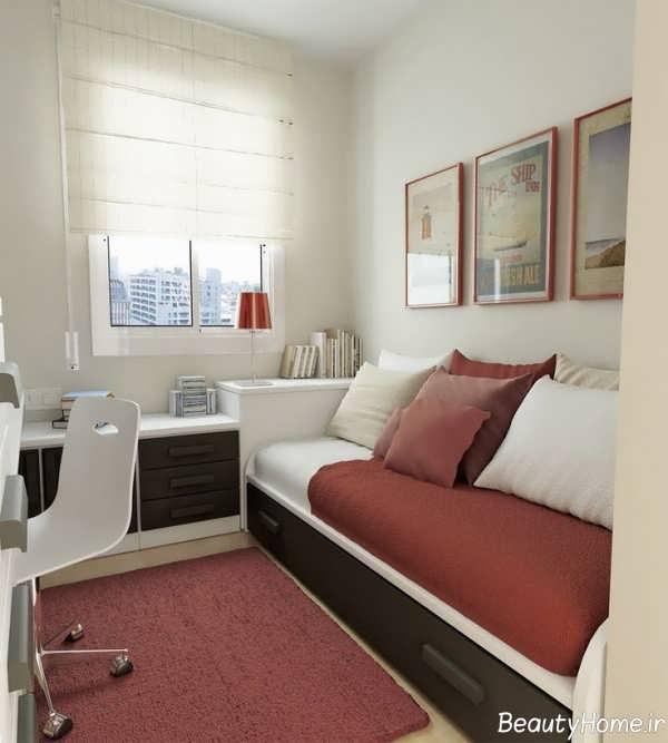 دکوراسیون اتاق خواب کوچک خانه های آپارتمانی