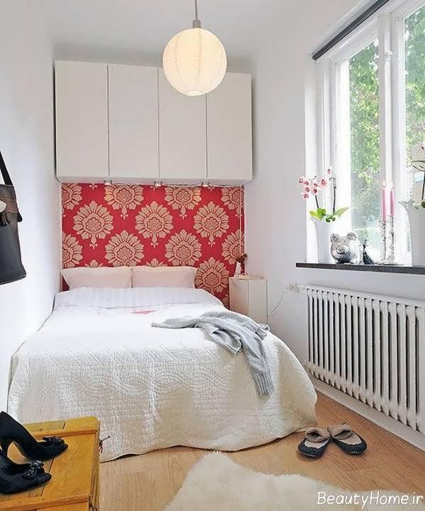 دکوراسیون خاص اتاق خواب خیلی کوچک