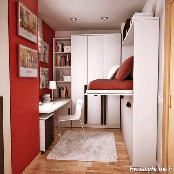 دکوراسیون اتاق خواب نوجوان با فضای کوچک
