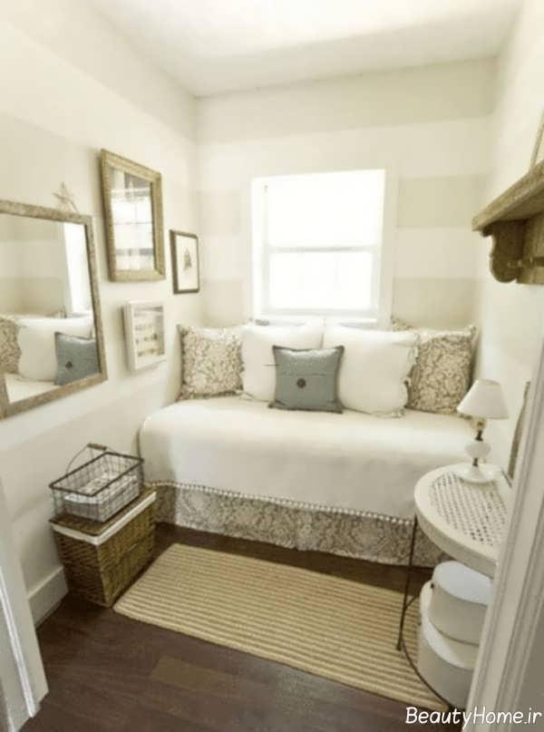 دکوراسیون جذاب اتاق خواب با فضای محدود