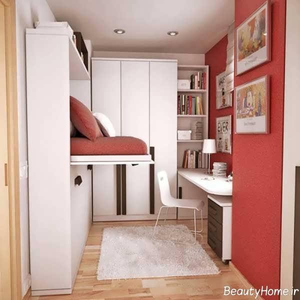 دیزاین شیک اتاق خواب خیلی کوچک
