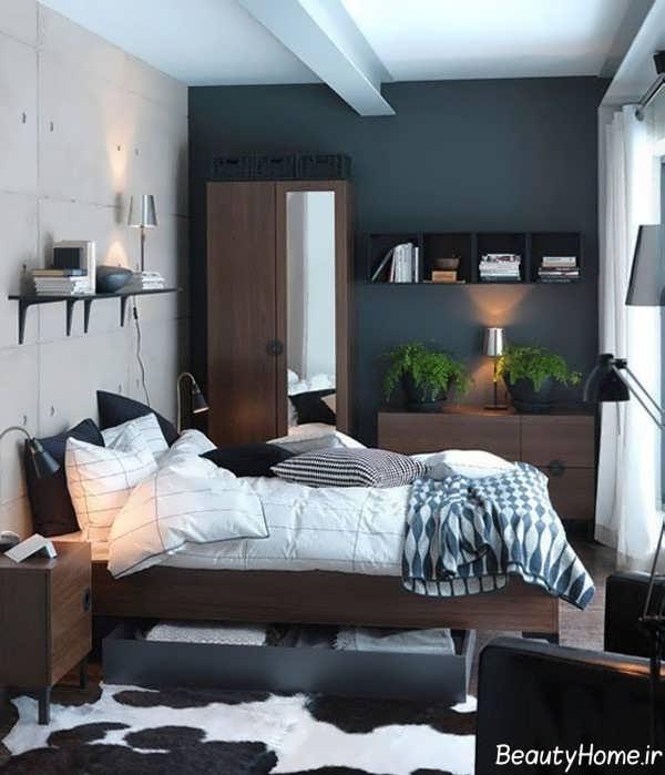 دکوراسیون داخلی اتاق خواب خیلی کوچک