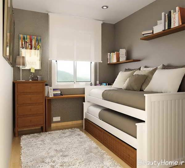 دیوارپوش در دکوراسیون اتاق خواب کوچک
