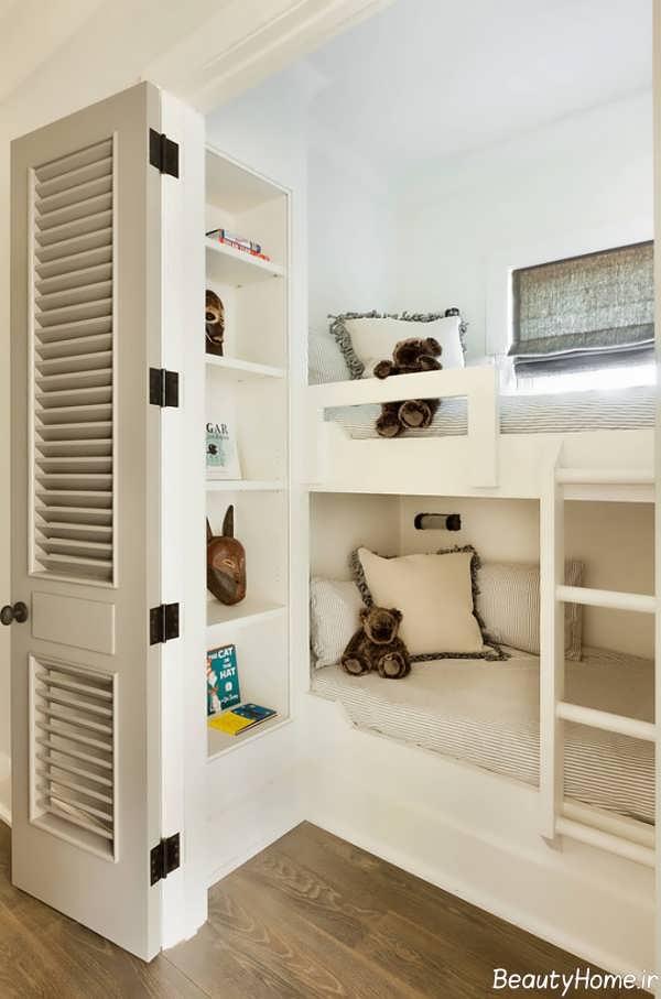 رنگ بندی و طراحی اتاق خواب خیلی کوچک