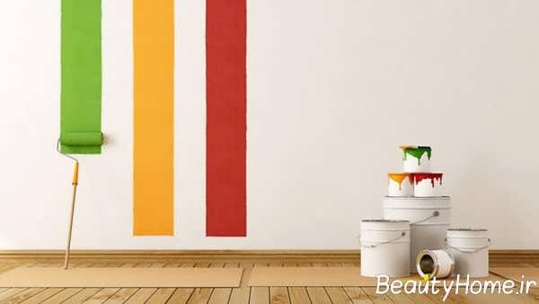 رنگ کردن دیوار با کمک غلتک