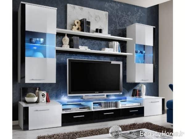 مدل میز تلویزیون دیواری های گلاس