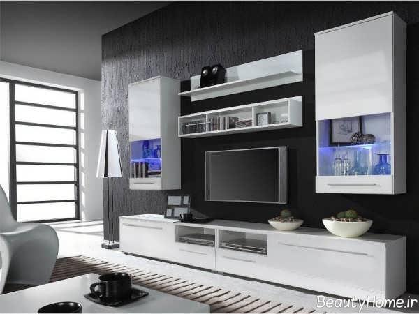 مدل زیبا و شیک میز تلویزیون سفید