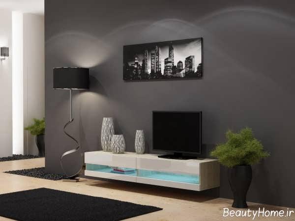 مدل میز تلویزیون ساده و مدرن های گلاس