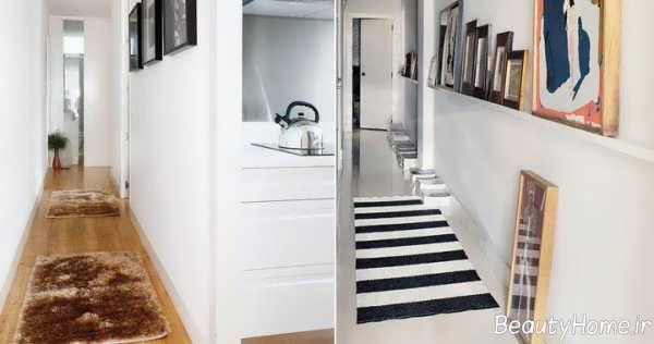 طراحی دکوراسیون راهرو اتاق خواب زیبا و مدرن