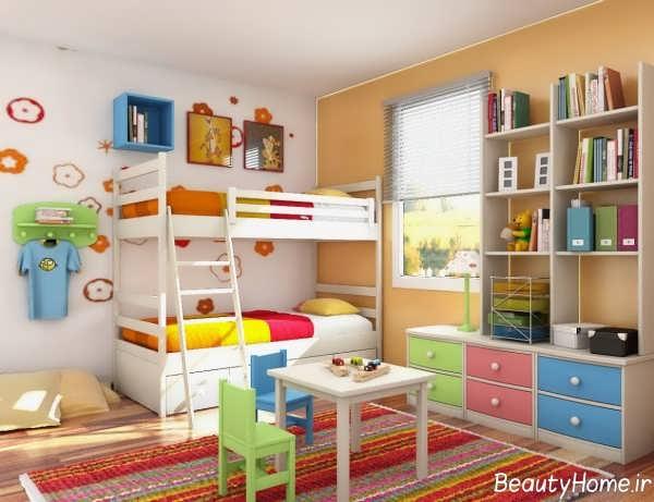 تخت خواب دو طبقه شیک و زیبا