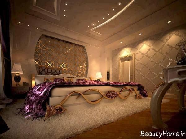طراحی نورپردازی اتاق خواب عروس و داماد
