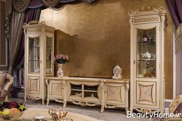 میز تلویزیون کلاسیک دکوراسیون منزل