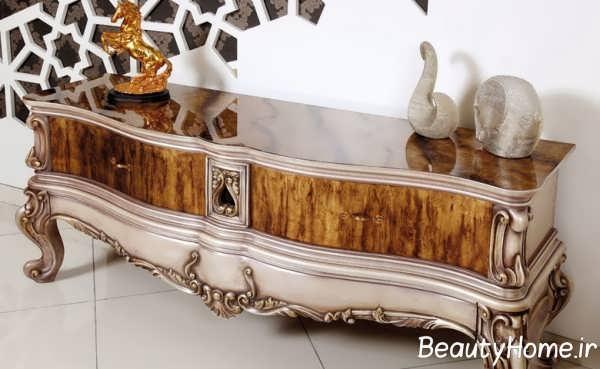 مدل های میز تلویزیون چوبی کلاسیک