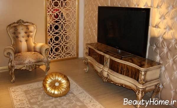 میز تلویزیون کلاسیک دکوراسیون داخلی خانه