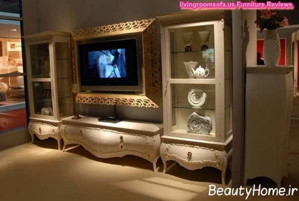 مدل میز تلویزیون متفاوت کلاسیک