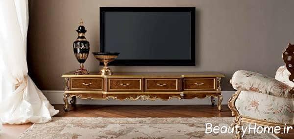 طراحی های میز تلویزیون کلاسیک خانه عروس