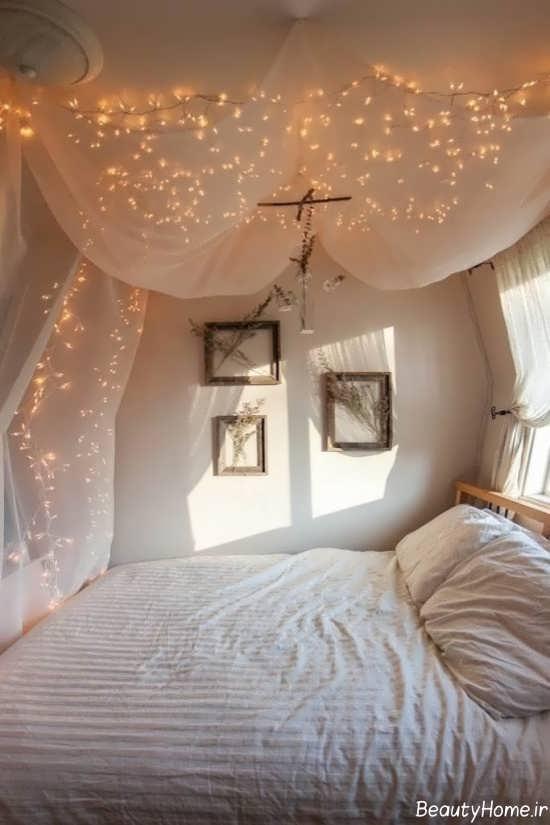 تزیین تخت خواب با تور