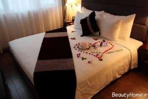 تزیین زیبا و خاص تخت خواب