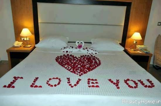 تزیین زیبا و فانتزی تخت خواب عروس