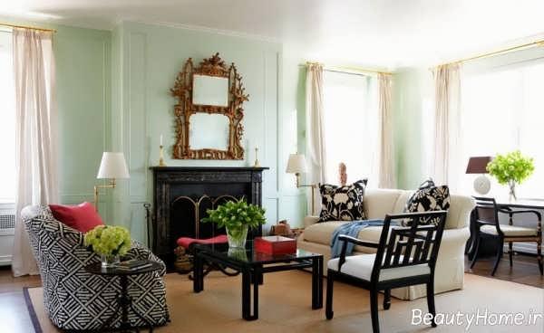 راهنمای نتخاب رنگ دیوار اتاق پذیرایی