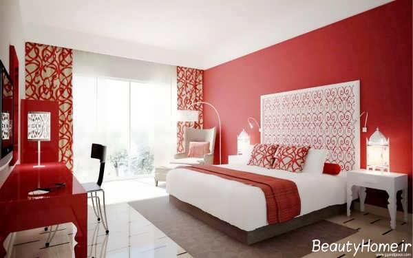 دکوراسیون داخلی اتاق خواب گرم و شیک