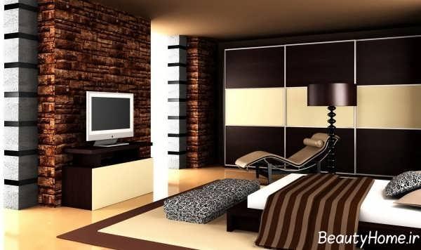 دکوراسیون داخلی اتاق خواب مدرن و دو نفره
