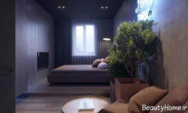 طراحی داخلی خانه با شکل هندسی ال شکل