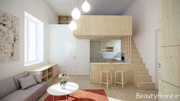 دکوراسیون زیبا و شیک خانه کوچک