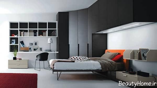 طراحی دکوراسیون شیک و کاربردی اتاق خواب نوجوان