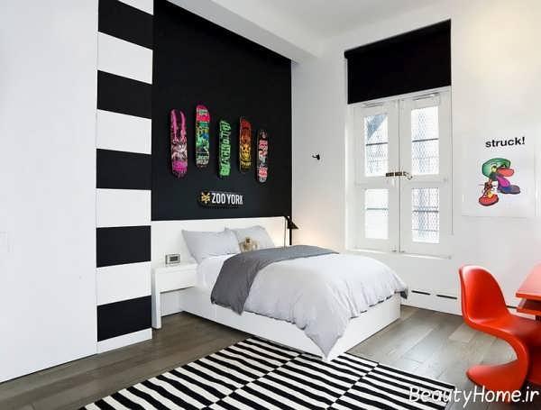 طراحی زیبا و شیک اتاق خواب پسرانه