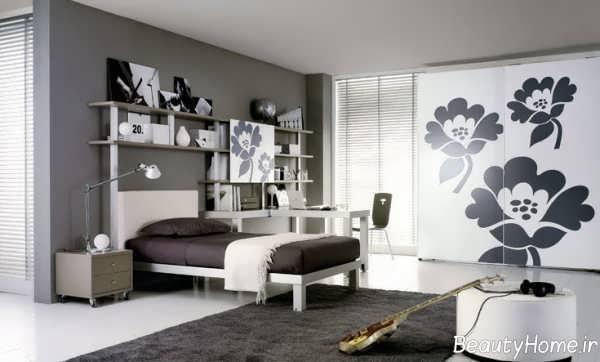 دکوراسیون زیبا و شیک اتاق خواب نوجوان