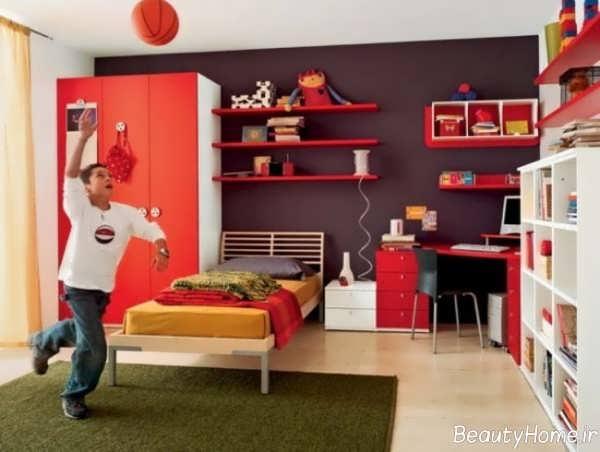 طراحی دکوراسیون زیبا و خاص اتاق خواب پسرانه