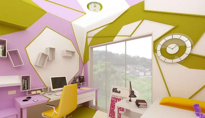 طرحی دکوراسیون داخلی اتاق نوجوان
