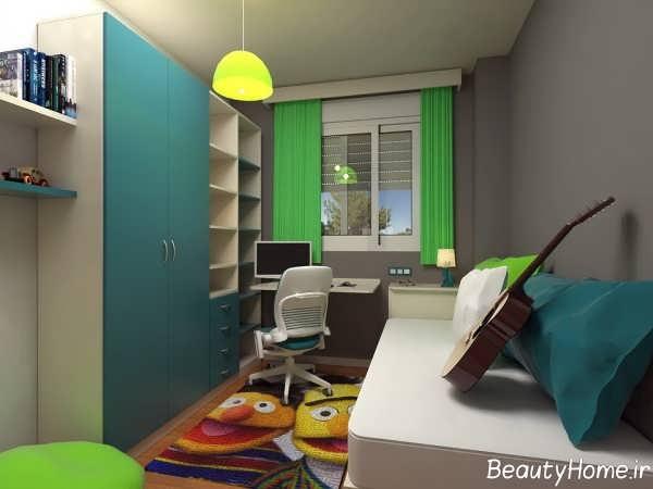 طراحی داخلی با شکوه اتاق جوانان تهران