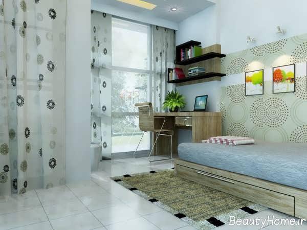 طراحی داخلی خاص اتاق خواب جوانان